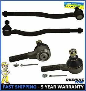 Chevy Geo Tracker Suzuki Sidekick 4 Pc Front Inner Outer Tie Rod Ends Set