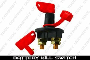 1 Kill Switch Battery Power Boat Suv Cut Off 12 Volt Anti Theft With 2 Keys