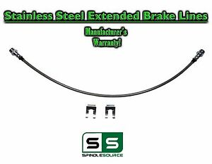 Stainless Extended Length Rear Lift Brake Line Fits 2005 2018 Toyota Tacoma