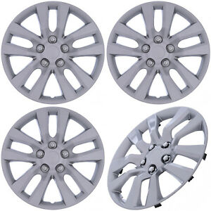 4 Pc Set Hub Caps Silver 16 Inch For Oem Steel Wheel Cover Cap Covers