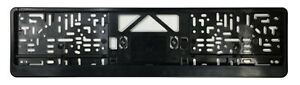 German License Plate Frame Euro Evo2 Frame Bmw Vw Mercedes Mini Audi Black