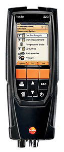 Testo 320 0563 3220 70 Combustion Analyzer Kit With Color Display