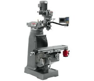 Jet Jtm 2 Mill With Acu rite Vue Dro With X axis Powerfeed 690286