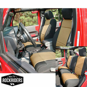 2008 2012 Jeep Wrangler Unlimited 4 Door Neoprene Seat Covers Set Black