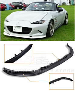 Leg Sport Style Front Bumper Lower Lip Splitter For 15 Up Mazda Mx 5 Miata Mx5