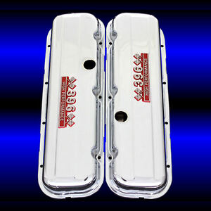 Valve Covers Factory Height Fits Big Block Chevy 396 Engines Chrome 396 Emblems