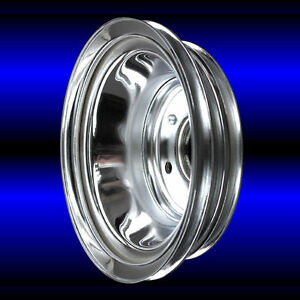 Chrome Big Block Chevy Cranshaft Pulley For 396 427 454 Chevrolet Engines Bbc