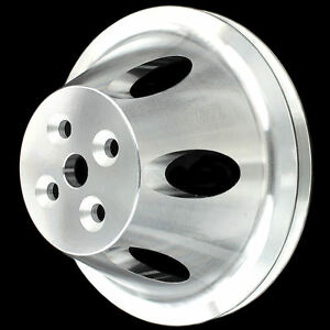 Pulley Billet Aluminum 1 Groove For Bb Chevy Short Water Pump 396 427 454