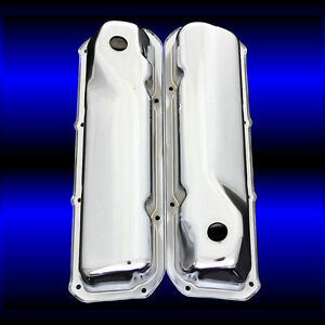 Valve Covers For Ford 351 Cleveland Engines Chrome Factory Height 351 Emblem