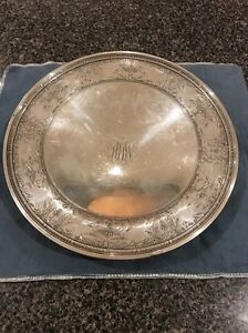 Sterling Silver Round Tray Pedestal Jennings Sterling Co J E Caldwell 321 Grams