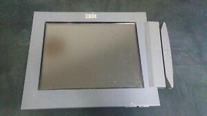 Ibm 40n5760 Pos 12 Touchscreen Lcd Display 12db W credit Card Reader