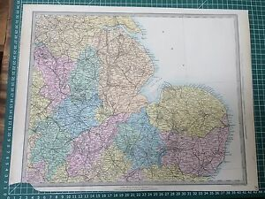 1865 Good Size Sduk Walker Map Of England And Wales Sheet 3 Eastern