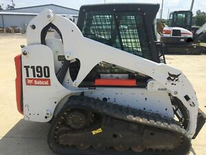 2012 Bobcat T190 Skid Steer 2000 Hours Professionally Maintained Tracks