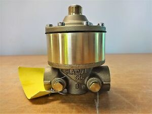 Lot Of 2 Cla val 1 2 Npt Powertrol Brass Valve 100 02 177b