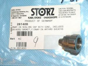 Storz 28140d Snap In Sealing Cap W cone For Arthroscope Sheaths New