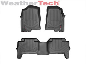 Weathertech Floorliner For Colorado Canyon Crew Cab 2004 2012 1st Row Black