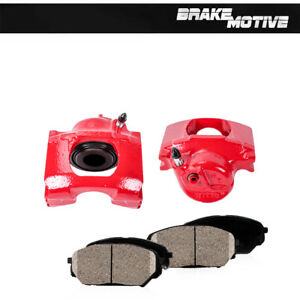 Front Red Brake Calipers Ceramic Pads For 1983 1994 Ford Ranger