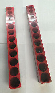 Mechanic Time Saver D381x 12 Hole Magnetic Socket Holder Organizer 3 8 Drive