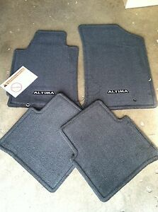 New Oem 2009 2013 Nissan Altima Coupe Black Charcoal 4pc Carpet Floor Mat Set