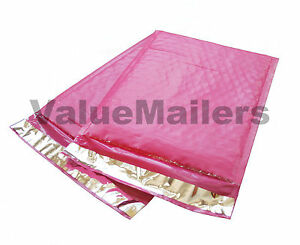 100 000 Pink Poly Bubble Mailers Envelopes Bags 4x8 Extra Wide Bag 4 X 8