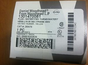 Nib Woodhead 28w76 Male Cord End Plug 480v 30a 3 Phase Nema L16 30 Watertite