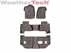 Weathertech Floorliner For Suburban Yukon Xl W Bench Seats 2015 2019 Cocoa