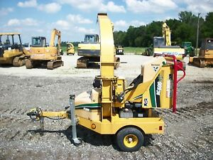 2010 Vermeer Bc600xl Towable Chipper Autofeed Ii System Kohler Gas 602 Hours