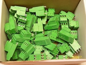 lot Of 50 Altech Pcb Green Double Level Fixed Terminal Block Akz750 6 34 006