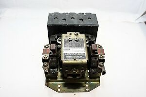 Square D 8536 D0 1 50a 600vac Single Phase Magnetic Motor Starter Used b107