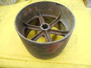 International Farmall Tractor Flat Belt Pulley Ih 6 Wide X 8 1 4 Dia