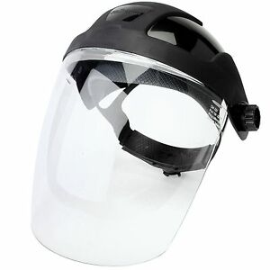 Sellstrom Dp4 Ratchet Headgear Clear Polycarbonate Face Shield Visor Set