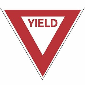 Yield 30 Reflective Traffic Control Aluminum Safety Sign