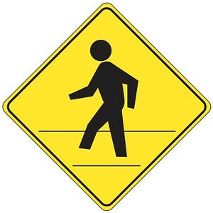 24 X 24 Pedestrian Crossing Reflective Traffic Control Safety Sign