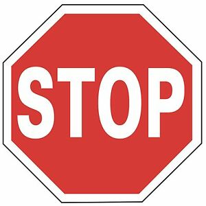 Stop 24 Reflective Traffic Control Aluminum Safety Sign
