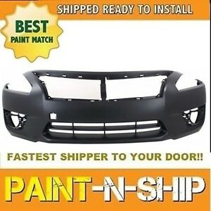 New Fits 2013 2014 2015 Nissan Altima Sedan Front Bumper Painted Ni10002