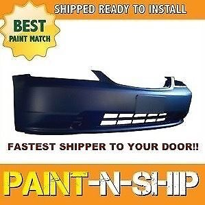 New 2001 2002 2003 Honda Civic Coupe Front Bumper Painted To Match Ho1000197