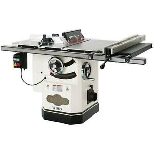 Shop Fox W1819 10 3 Hp Cabinet Table Saw With Riving Knife Free Shipping