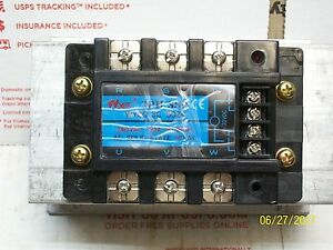 Wyes 3 Phase Ac Solid State Relay With Heatsink 3ph Ssr Wy3g 3c 50z4