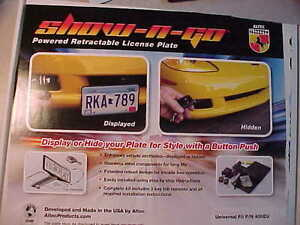 Universal Retractable Front License Plate Holder Bracket Power Remote Show Go