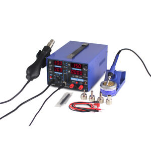 Yihua Wep 853d 2a 3 in 1 Hot Air Smd Esd Desoldering Soldering Iron Station Set