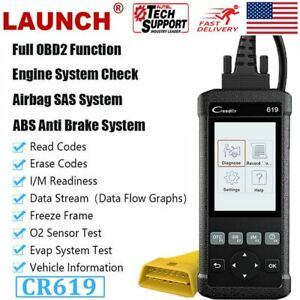 Launch Cr619 Car Abs Srs Airbag Obdii Diagnostic Tool Engine Check Code Reader