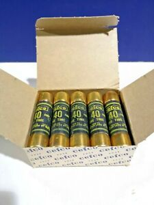 5 pk New Non 40 Eagle Buss 40 Amp Fuses 250 Volt One time Non 40 New