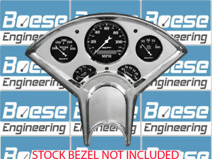 55 56 Chevy Billet Aluminum Dash Panel Insert W Auto Meter Old Tyme Black Gps