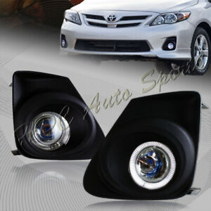 For 2011 2013 Toyota Corolla Halo Projector Bumper Fog Driving Lights Lamps