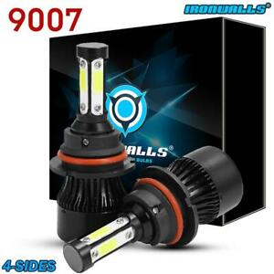 9007 Hb5 Cree Led Headlight Conversion Kit 1900w 285000lm Hi Lo Lamp Bulbs 6000k