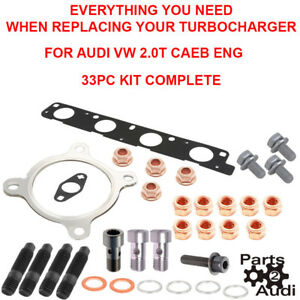 Turbocharger Installation Kit All You Need For Audi 2 0t Caeb Engine