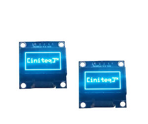 2pcs 0 96 Oled Lcd Display I2c Iic 128x64 Arduino Esp8266 Screen Blue Ssd1306