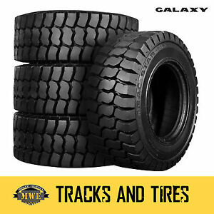 12 16 5 12x16 5 Galaxy Trac Star 12 ply Skid Steer Tires Pick Your Rim Color
