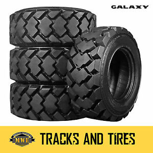 12 16 5 12x16 5 Galaxy Hulk 12 ply Skid Steer Tires Pick Your Rim Color