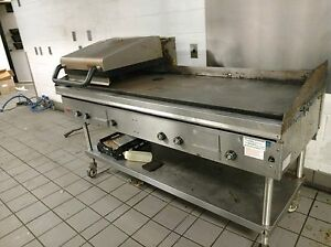 Lang 6 Gas Griddle Clamshell Commercial Hood